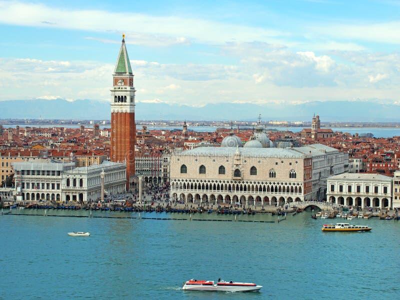 Panoramiczny widok Venice z góry obrazy royalty free
