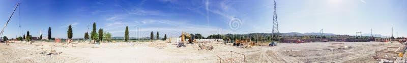 Panoramiczny widok w budowie plac budowy fotografia royalty free