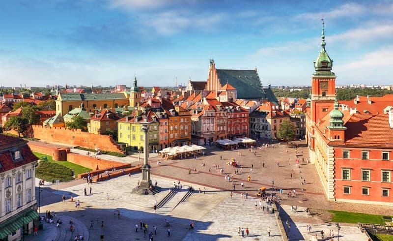 Panoramiczny widok Warszawa w letnim dniu n Polska zdjęcie royalty free