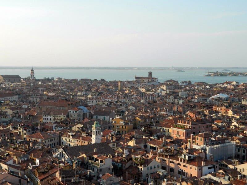 Panoramiczny widok Wenecja od San Marco dzwonkowy wierza, Włochy zdjęcie stock