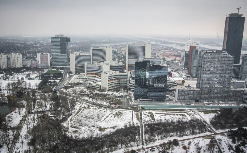 Panoramiczny widok Wiedeń zdjęcia stock