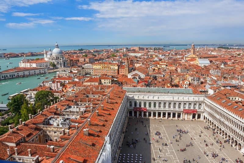 Panoramiczny widok z lotu ptaka Wenecja zdjęcia stock
