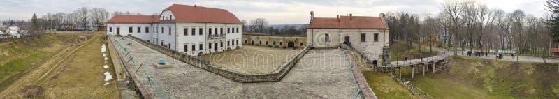 Panoramiczny widok Zbarazh kasztel obraz royalty free