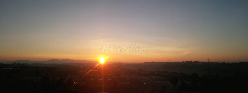 Panoramiczny wschód słońca obrazy royalty free