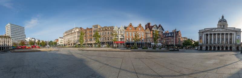 Panoramiek in de stad Nottingham Verenigd Koninkrijk stock foto's