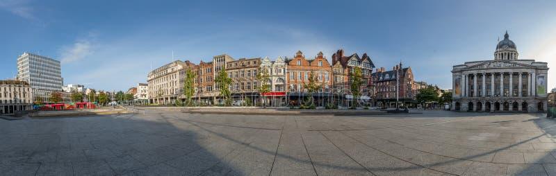 Panoramiek in de stad Nottingham Verenigd Koninkrijk stock afbeeldingen