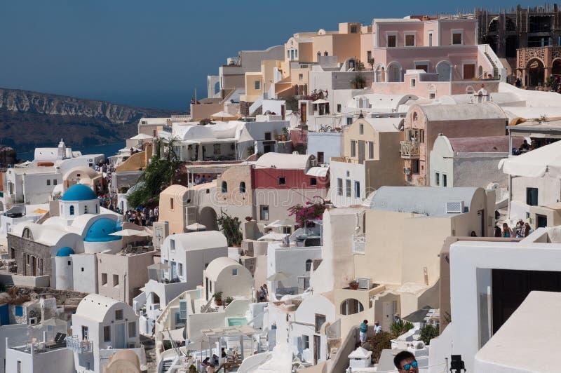 Panoramika Ia Oia Santorini obraz royalty free