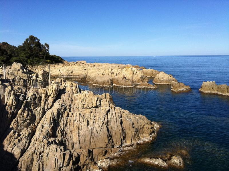 Panorama beach Corsica stock photos