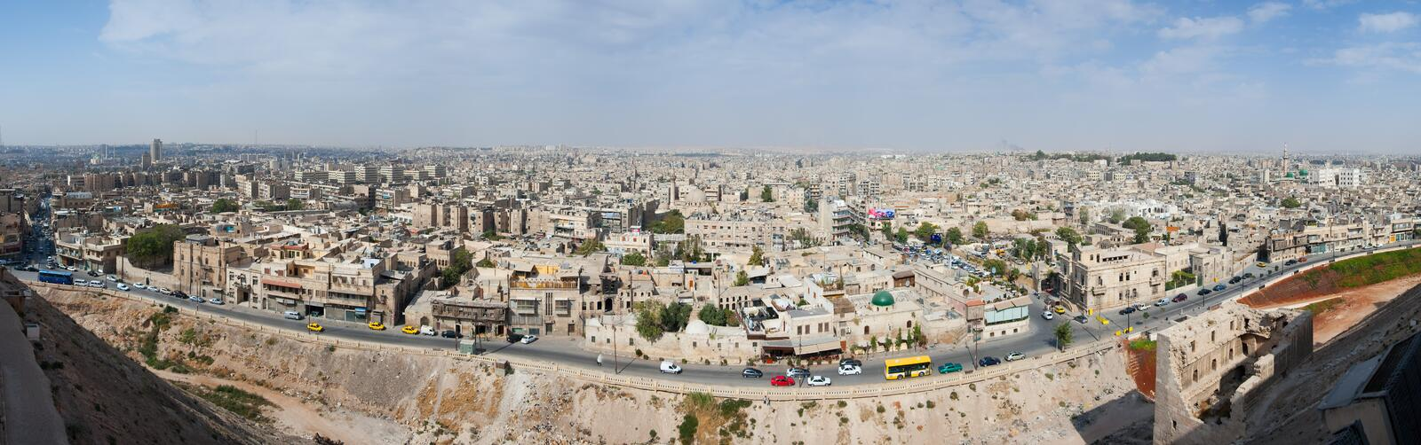 Panoramique d'Aleppo photo stock