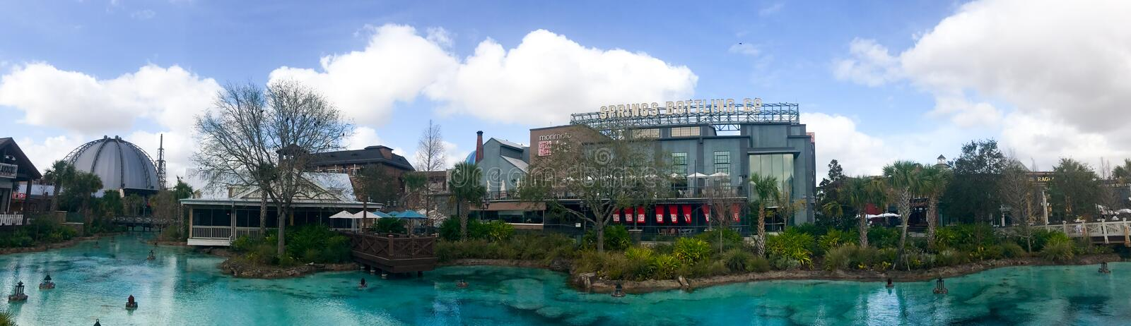 Panoramique des ressorts de Disney, Orlando, la Floride photo stock