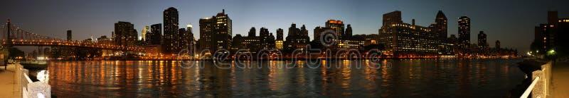 Panoramique eastside de Manhattan photographie stock