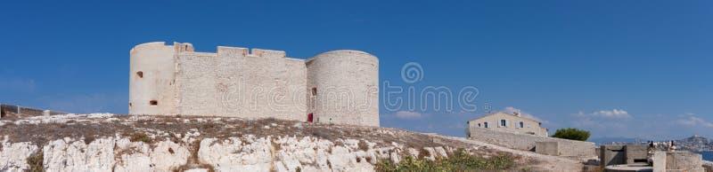 Panoramisch auf Chateau d 'wenn, Frankreich lizenzfreies stockfoto