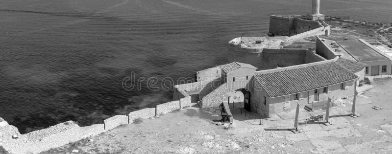 Panoramisch auf Chateau d 'wenn, Frankreich lizenzfreie stockfotografie