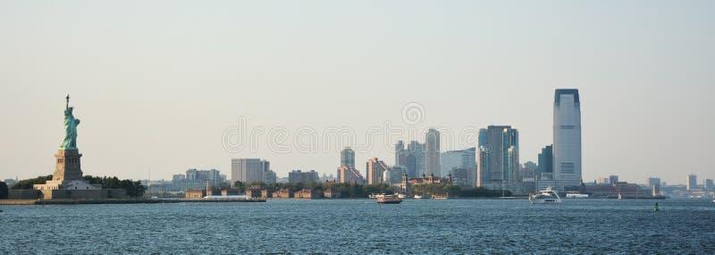 Panoramisch beeld van de lagere horizon van Manhattan royalty-vrije stock afbeeldingen
