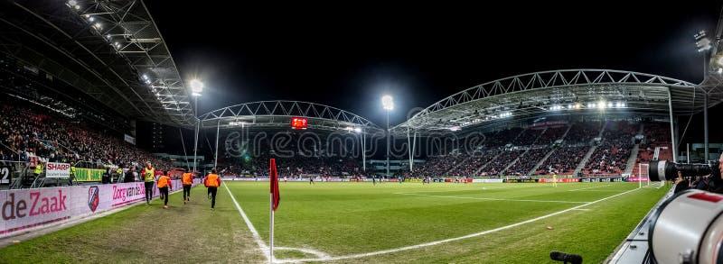 Panoramisch breed overzichtsstadion galgenwaard van FC Utrecht stock fotografie