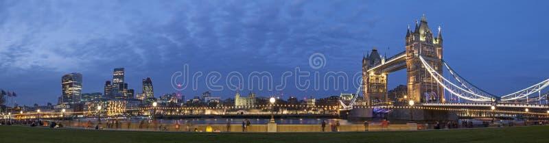 Panoramisch Cityscape van Londen royalty-vrije stock afbeelding