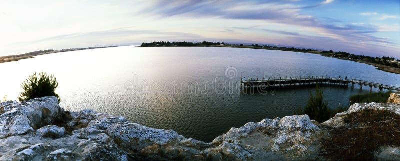 Panoramisch Clayton Bay stock fotografie