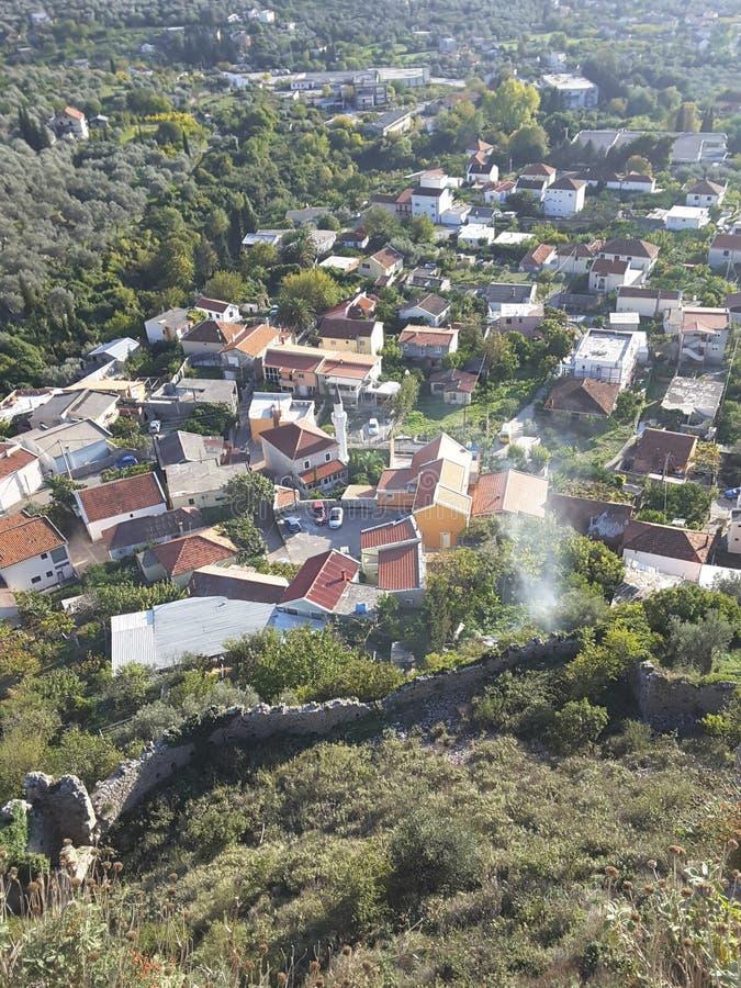 Panoramisch gezicht van Kotor royalty-vrije stock afbeeldingen