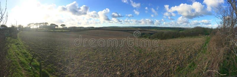 Panoramisch Landbouwbedrijf royalty-vrije stock fotografie
