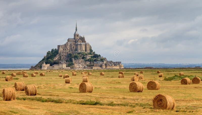 Panoramisch Le Mont Saint-Michel royalty-vrije stock afbeeldingen