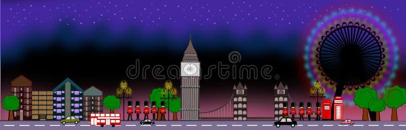 Panoramisch Londen stock illustratie