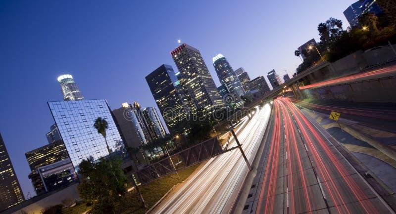 Panoramisch Los Angeles stock foto's