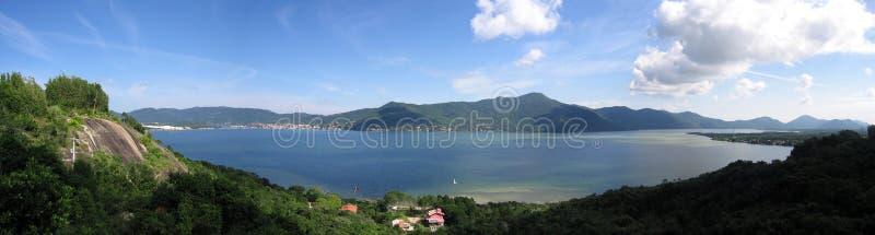 Panoramisch overzie van Morro DA Lagoa stock fotografie