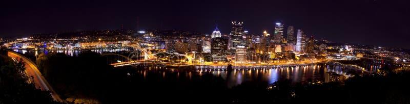 Panoramisch Pittsburgh Pennsylvania stock foto