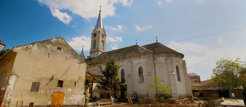 Panoramisch schot van Adventistenkerk royalty-vrije stock foto