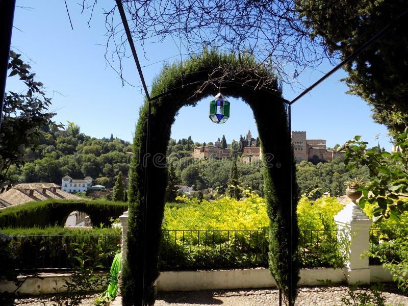 Panoramisch van Albayzin- Granada-Andalusia royalty-vrije stock fotografie
