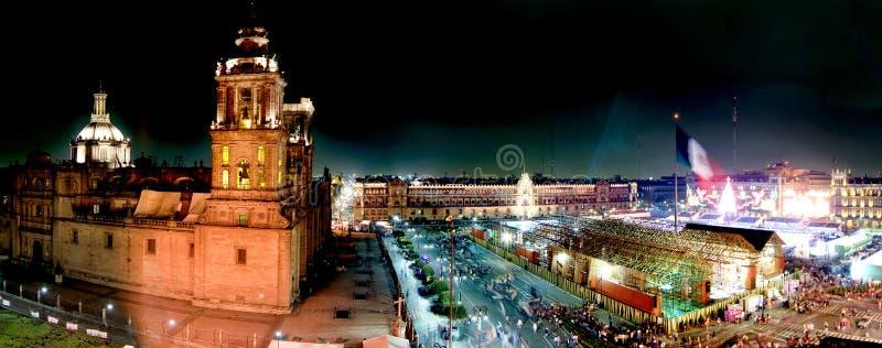 Panoramisch van Mexico-City stock foto's