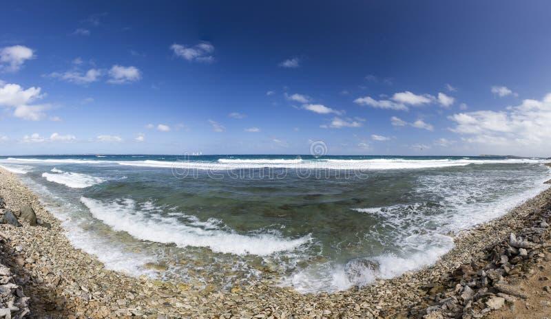 Panoramisch van Saint Martin, Sint Maarten: Caraïbische Stranden royalty-vrije stock foto