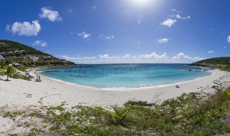 Panoramisch van Saint Martin, Sint Maarten: Caraïbische Stranden royalty-vrije stock afbeeldingen