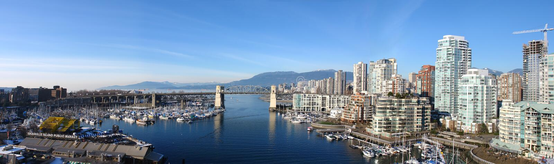 Panoramisch Vancouver stock afbeeldingen