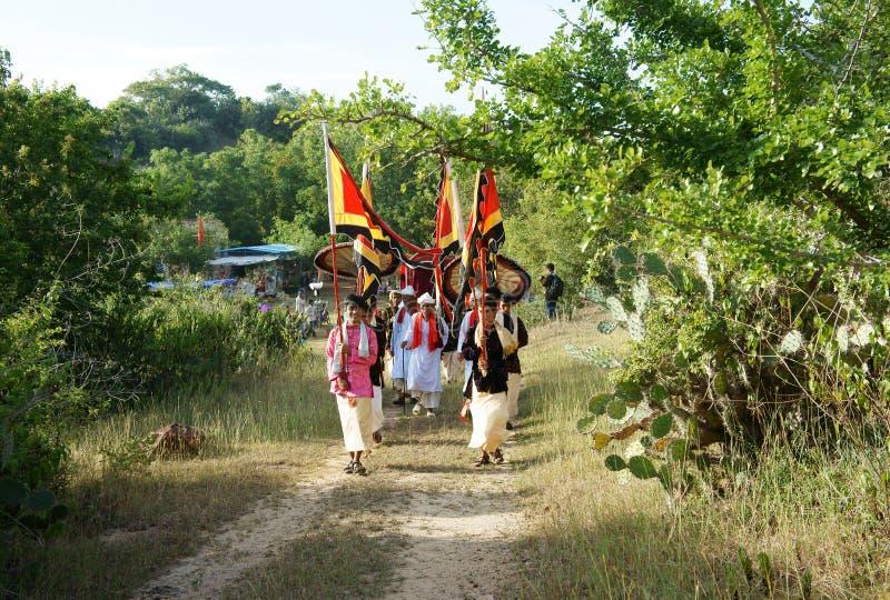Panoramisch verbazen, Kate-festival, de traditionele cultuur van Cham royalty-vrije stock foto's