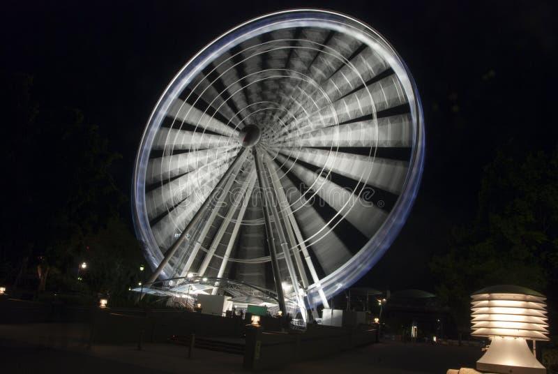Panoramisch Wiel 's nachts, Brisbane, Australië royalty-vrije stock afbeeldingen