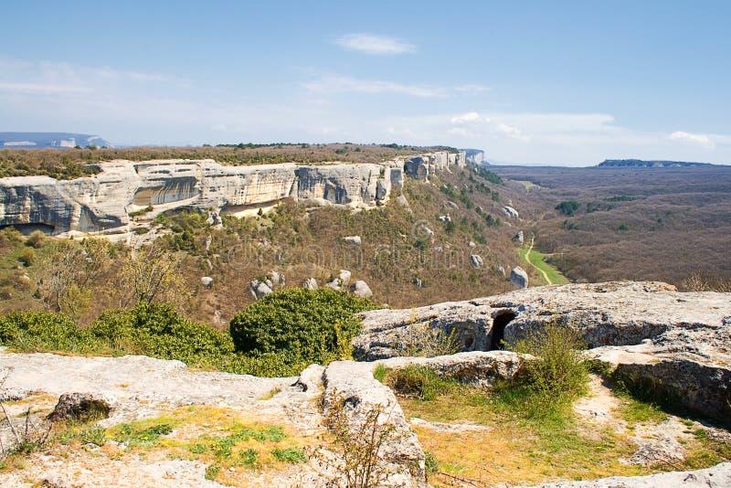 Panoramische Ansicht des Krim-Berges lizenzfreie stockbilder