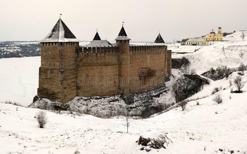 Panoramische Ansicht des Schlosses stockfotos