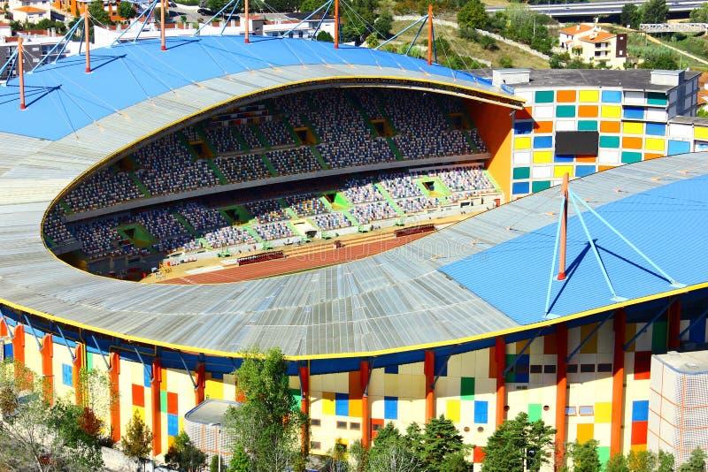 Panoramische Ansicht eines Fußballstadions bei Portugal lizenzfreies stockbild