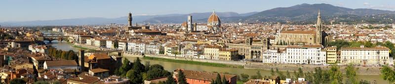 Panoramische Ansicht von Florenz lizenzfreie stockbilder