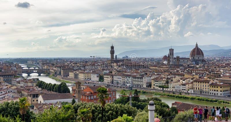 Panoramische Ansicht von Florenz, Italien stockfotos