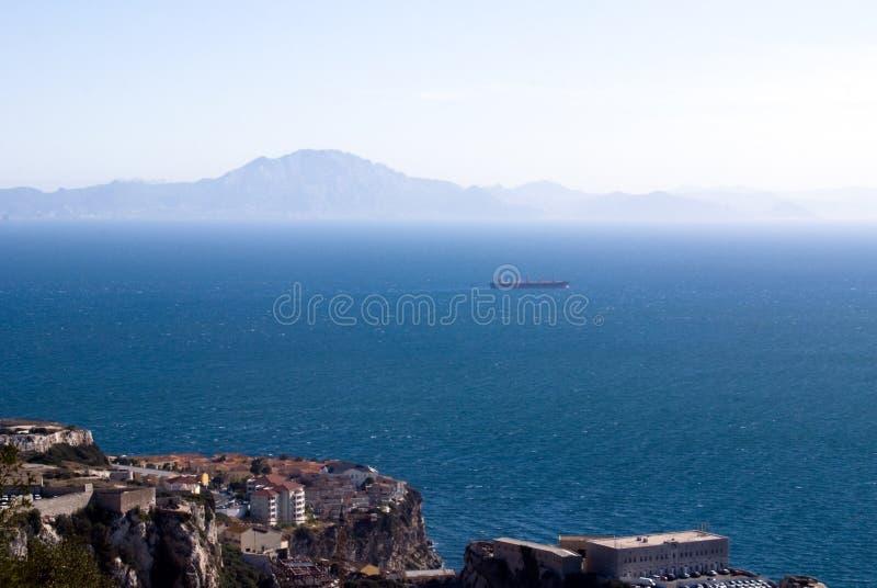 Panoramische Ansicht von Gibraltar stockbild