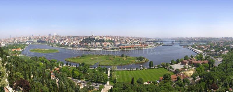 Panoramische Ansicht von Istanbul lizenzfreie stockfotos