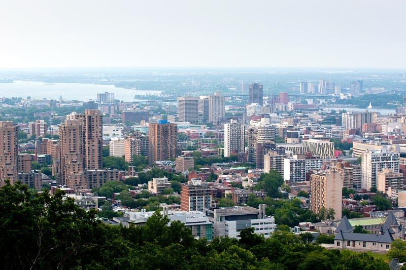 Panoramische Ansicht von Montreal lizenzfreie stockfotos