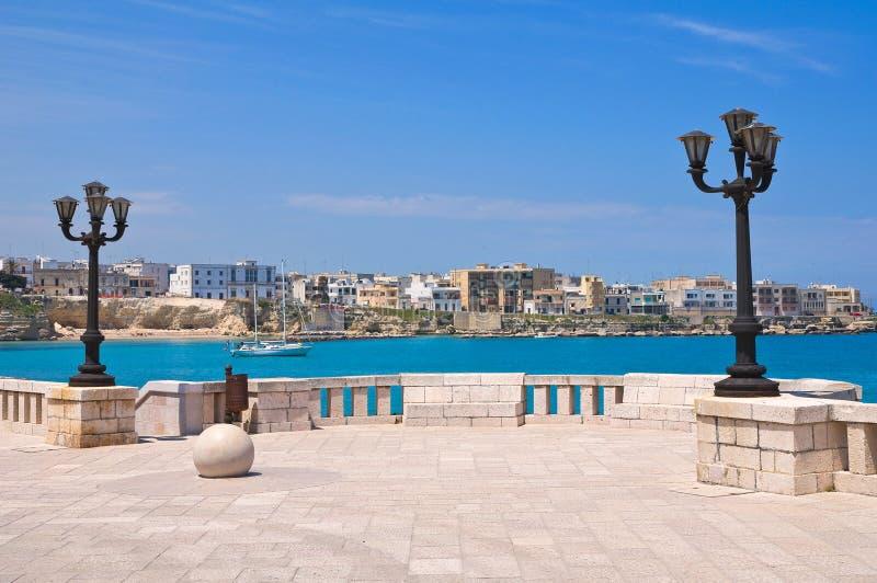 Panoramische Ansicht von Otranto. Puglia. Italien. lizenzfreies stockbild
