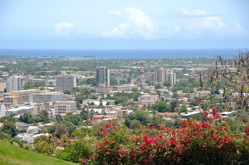 Panoramische Ansicht von Ponce, Puerto Rico stockfotos