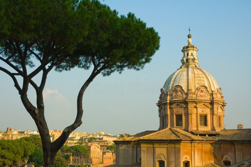 Panoramische Ansicht von Rom lizenzfreie stockbilder