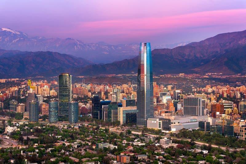Panoramische Ansicht von Santiagode Chile lizenzfreie stockbilder