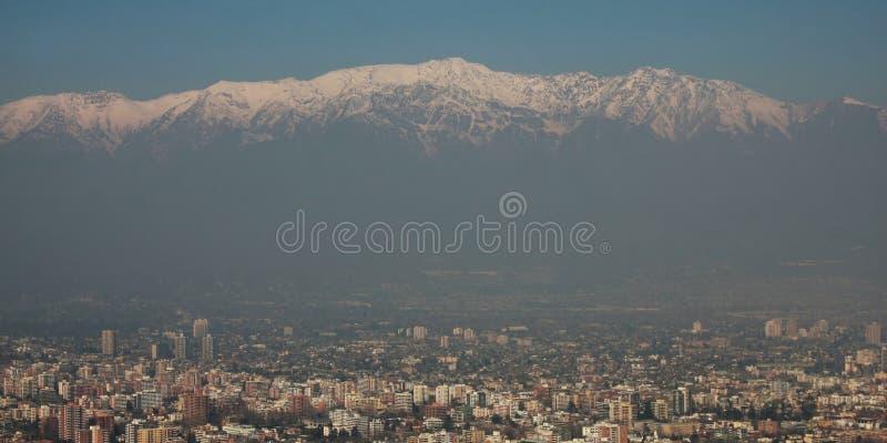 Panoramische Ansicht von Santiagode Chile lizenzfreies stockbild