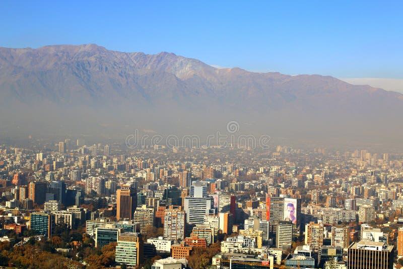 Panoramische Ansicht von Santiagode Chile stockfotografie